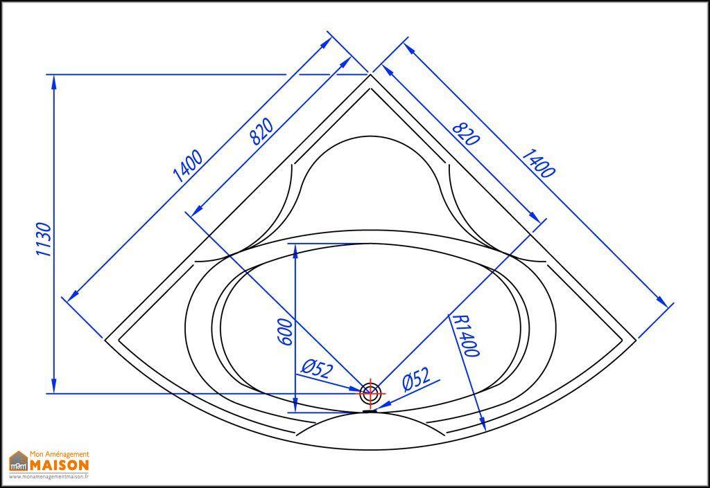 baignoire d 39 angle acrylique 140x140 allegro kolpa. Black Bedroom Furniture Sets. Home Design Ideas