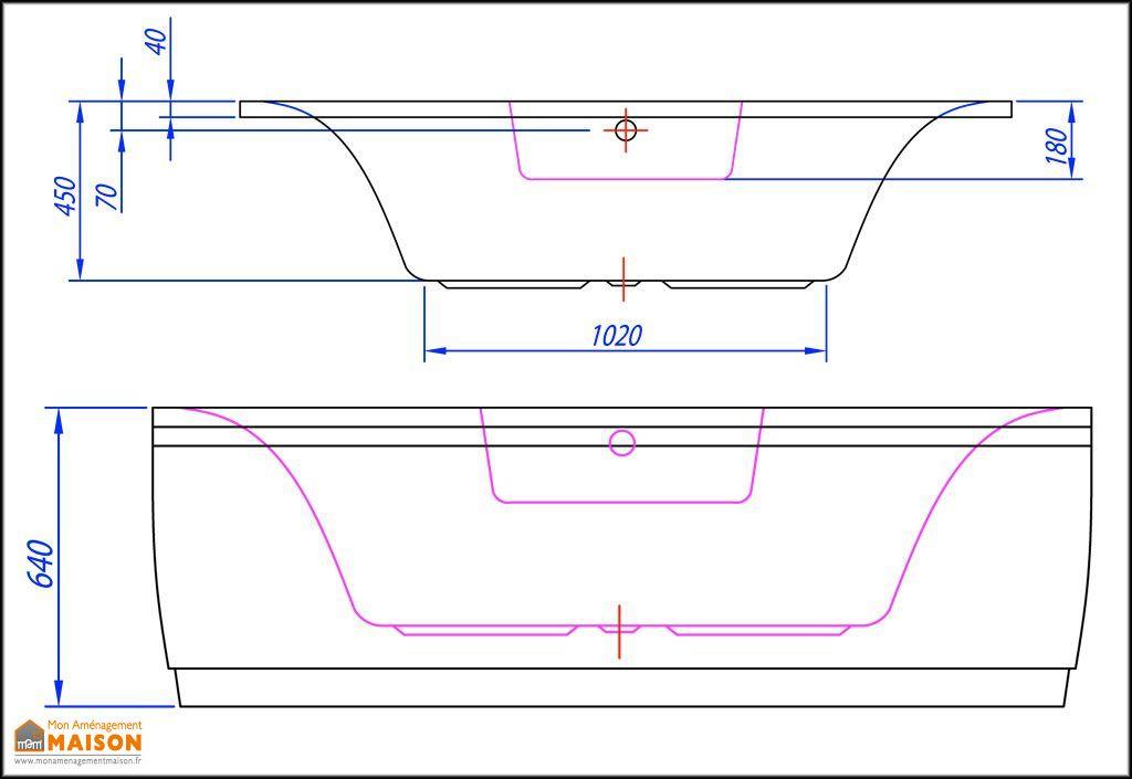Baignoire d'Angle Acrylique 140x140 Allegro