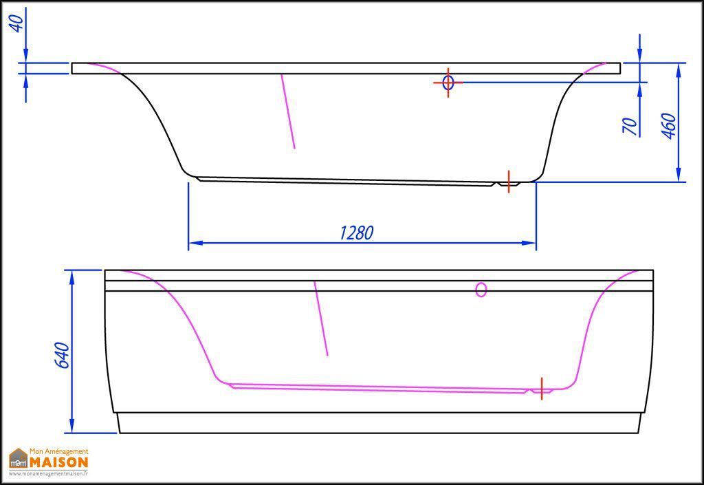 Baignoire d'Angle Acrylique 150x150 Largo