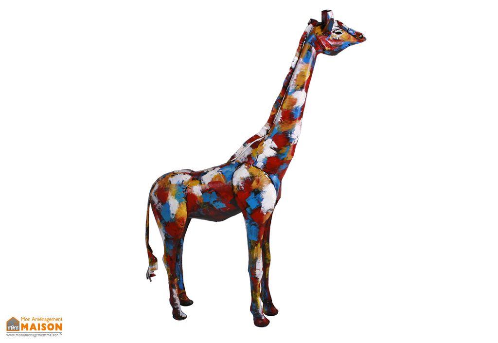 Sculpture Girafe en Métal Socadis
