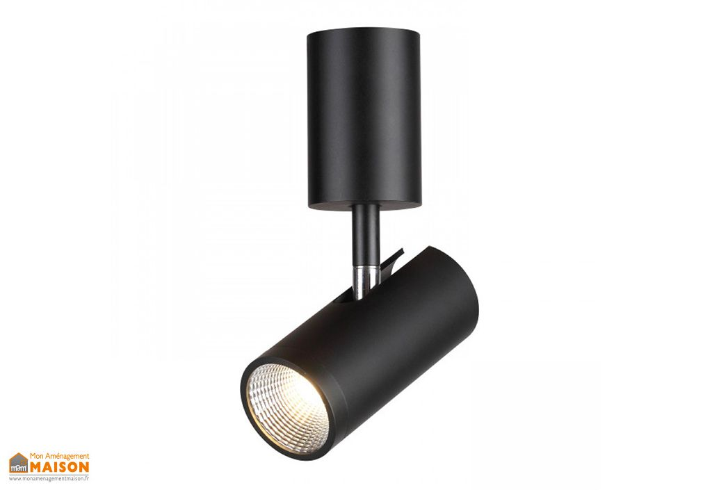 Spot LED Orientable en Métal Rendl Light Studio Bogard Noir