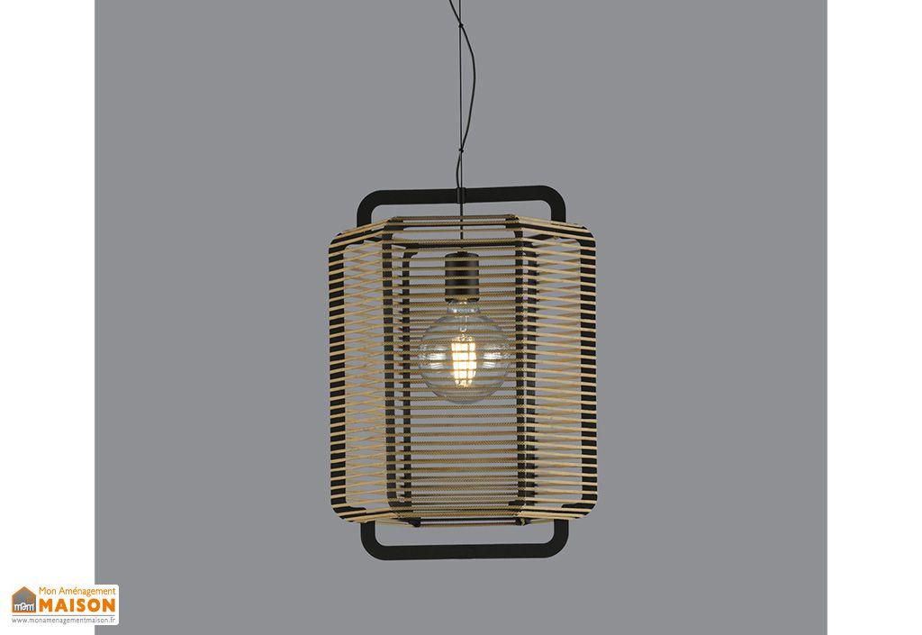 Luminaire en métal et corde polypropylène Corda ⧄ 35,5 cm sable