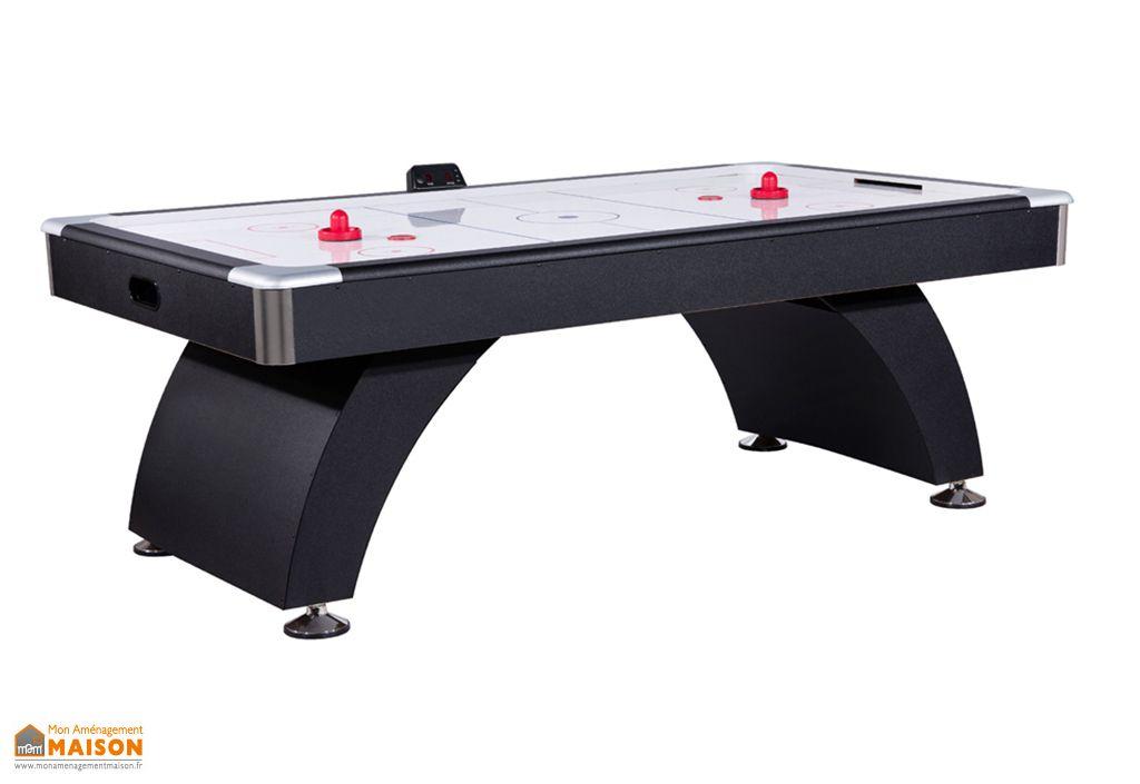 Table de air hockey en MDF noir avec air pulsé