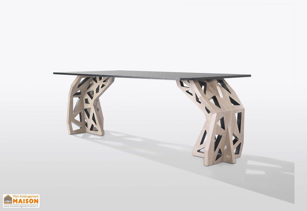 Table Design Chêne et Verre Aponte Wewood