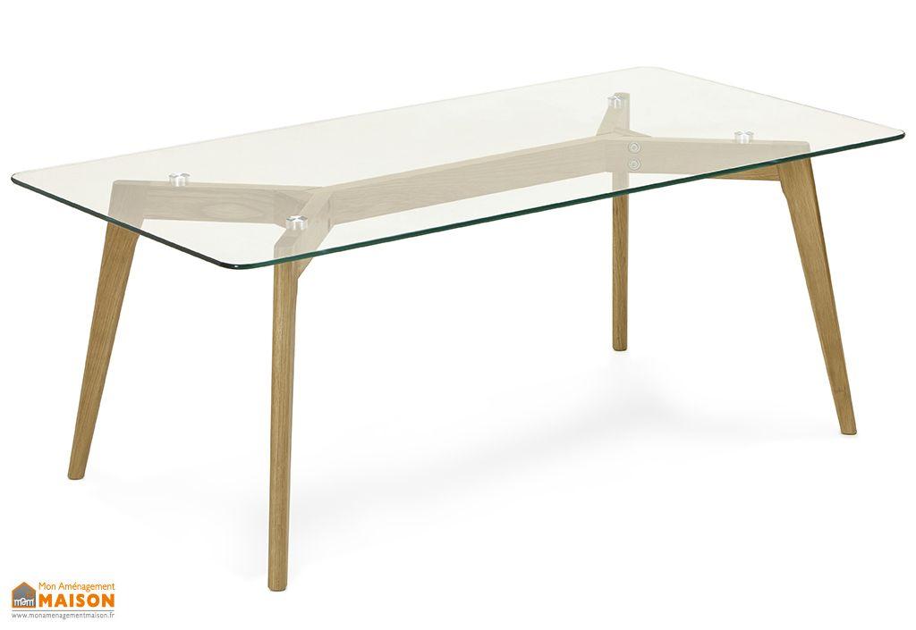Table Basse en Bois de Chêne et Verre Kokoon Design Scara