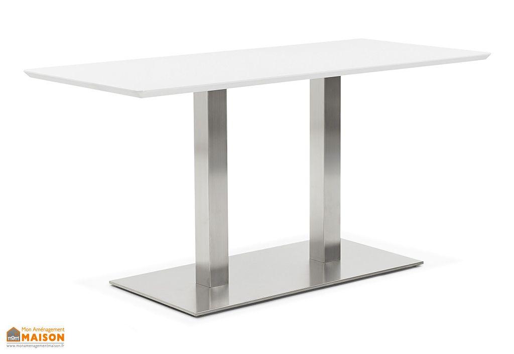 Table à Manger Design Kokoon Design Recta Blanc