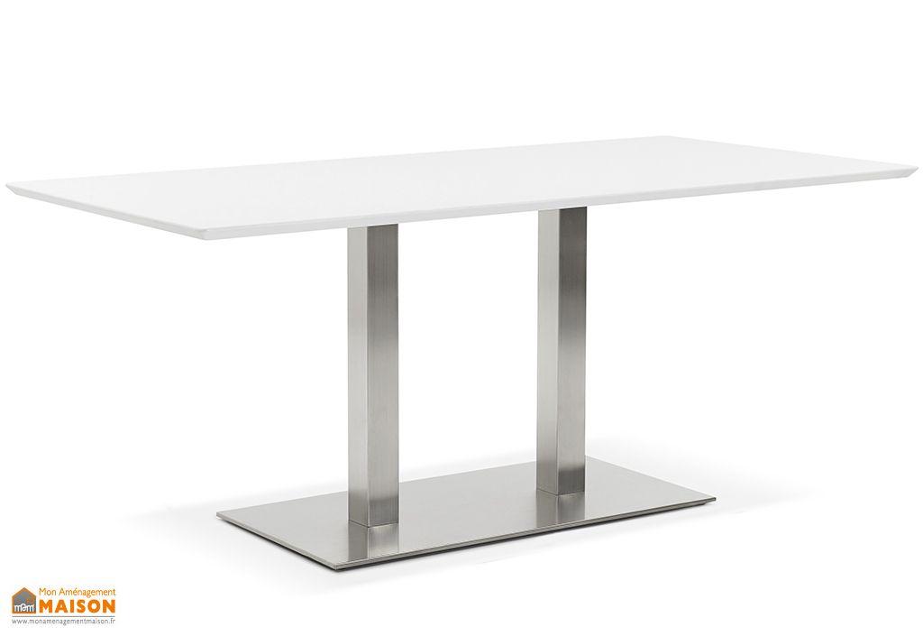 Table à Manger Design Kokoon Design Recta 180 cm Blanc
