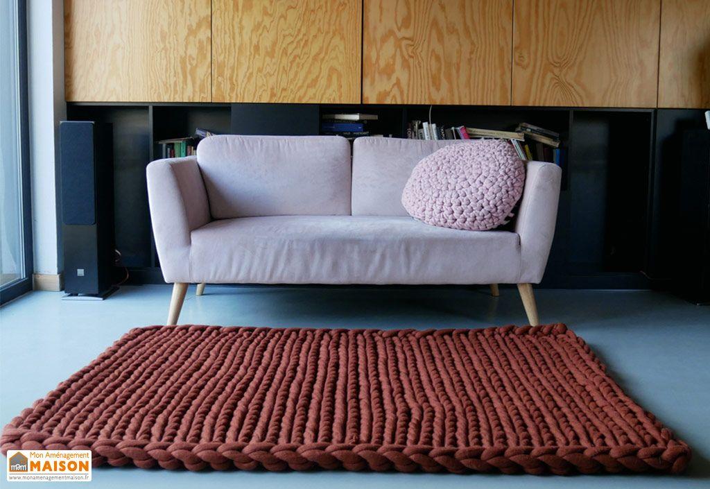 tapis en laine oslo panapufa coloris terra
