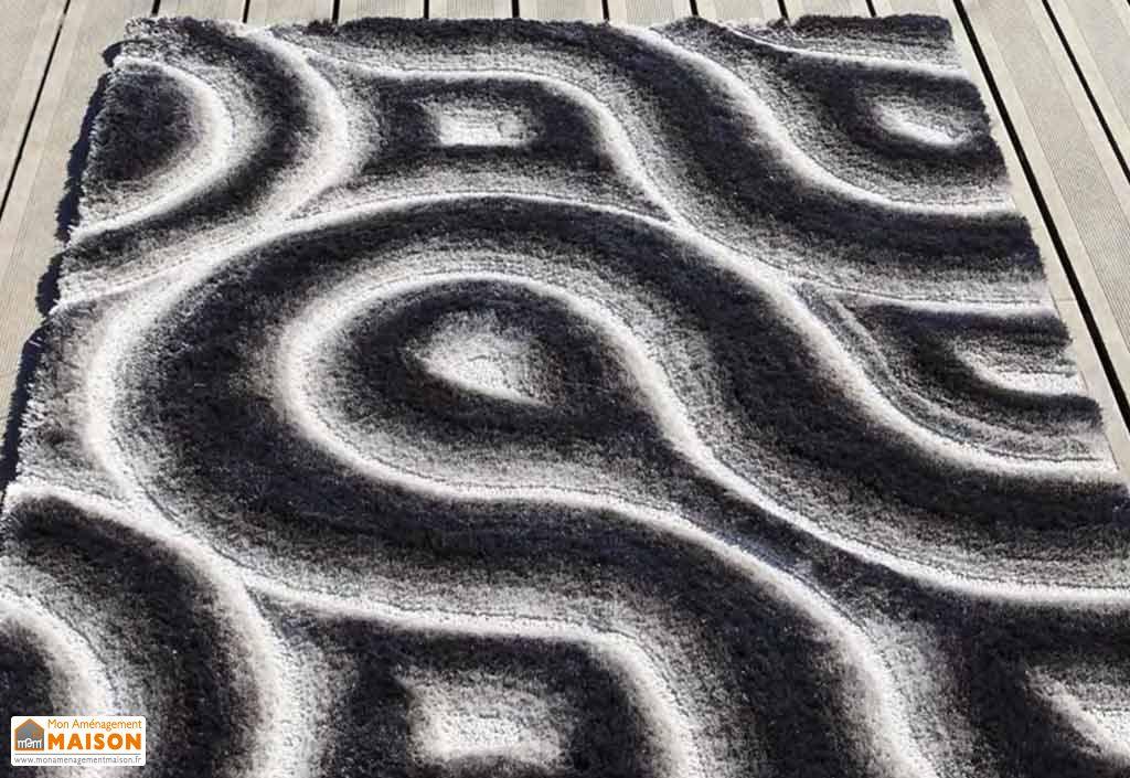 Tapis en Polyester 3D Curves (140x200 - 170x240 - 200x300cm)