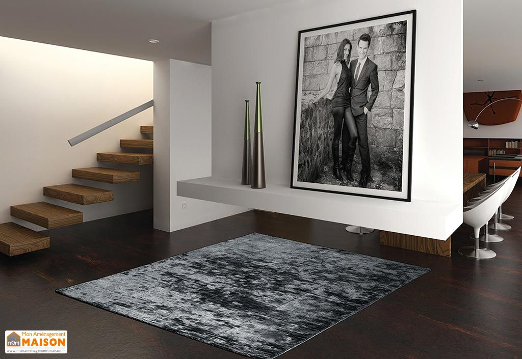 Tapis en Viscose Square Silky 200x300cm (3 coloris)