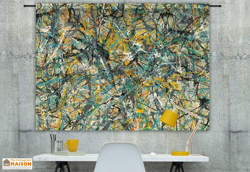 Tenture Murale Design en Coton Bio 145x190cm Lavoro N1