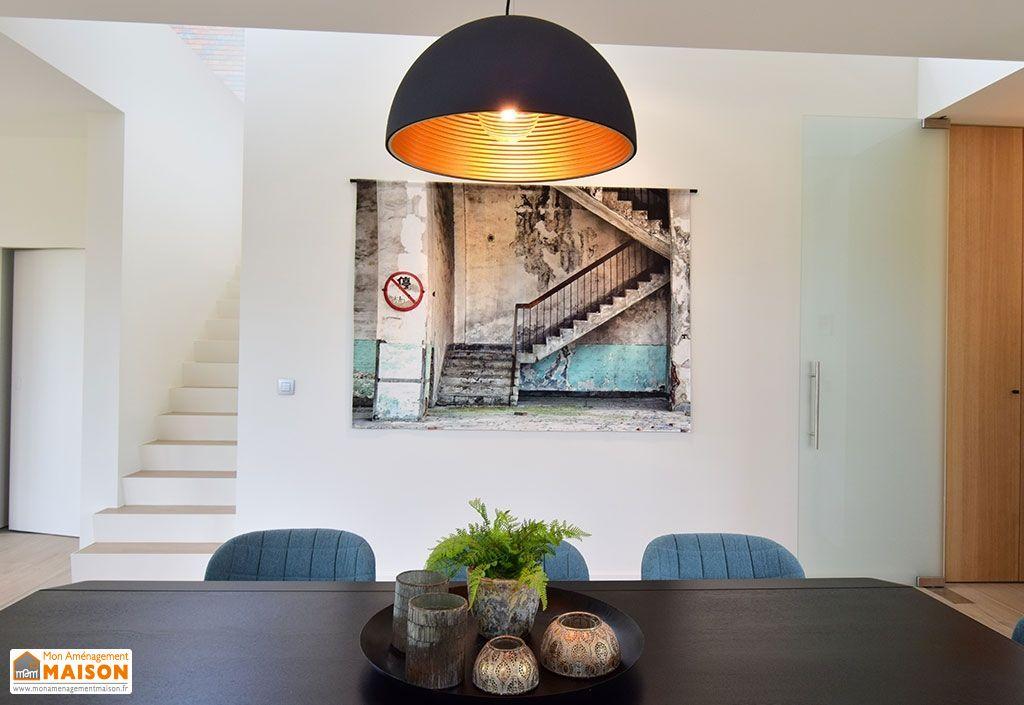 Tenture Murale Design en Coton Bio Concrete Stairs