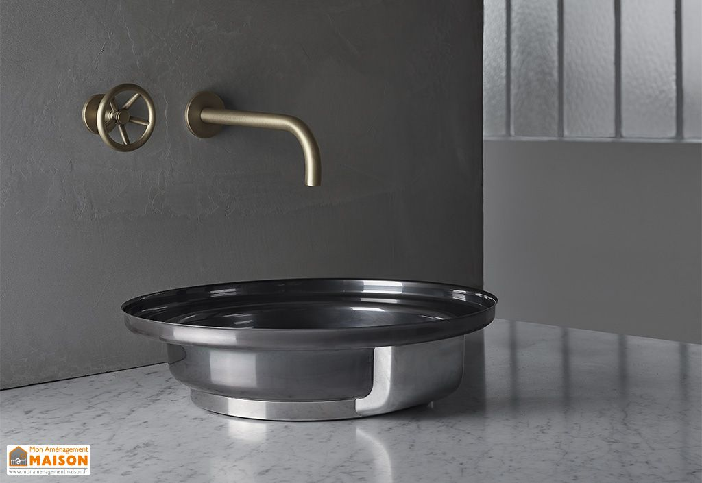 Vasque de salle de bain en acier inoxydable